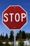 cliping стоп знака путя Стоковая Фотография RF