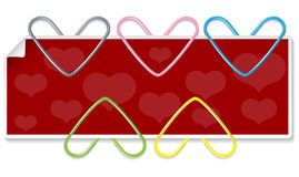 Clipped hearts set Stock Photo