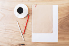 Clipped paper sheets Stock Image