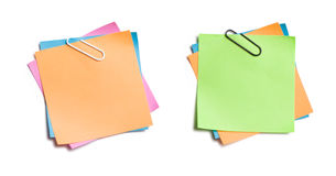 Clipped Sticky Notes Royalty Free Stock Photos