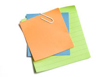 Clipped Sticky Notes Stock Images