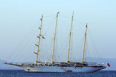 Clipper. Passenger luxury sailing fast clipper -style royalty free stock photography