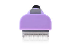 Clipper comb for pet close up. Clipper comb for pet grooming close up isolated on white background with clipping paths Royalty Free Stock Photography