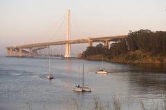 Clipper Cove Bay Bridge San Francisco Treasure Island California Stock Photos