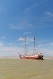 Clipper on Dutch wadden sea Stock Photos