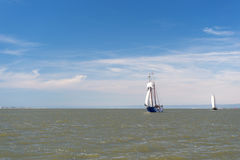 Clipper on Dutch wadden sea Royalty Free Stock Photography