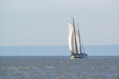 Clipper on Dutch wadden sea Stock Images