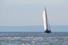 Clipper on Dutch wadden sea Stock Image