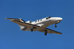 Clipper Jet Cessna 510 Citation Mustang. Approaching to El Prat Airport in Barcelona, Spain Stock Photo