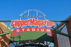 Clipper Magazine Stadium, home to The Lancaster Barnstormers. royalty free stock photography