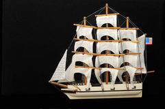 Clipper - Old whaling sail ship model Royalty Free Stock Photography