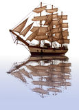 Clipper reflection. Stock Images