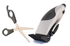 Clipper and scissors Royalty Free Stock Photography
