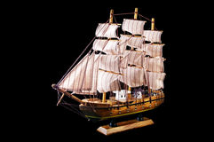 Clipper Ship. Over black background royalty free stock photography
