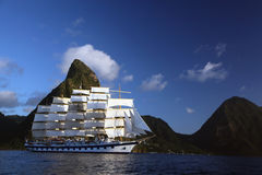 Clipper ship in St. Lucia Stock Images