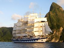 Clipper Ship in St. Lucia Royalty Free Stock Image