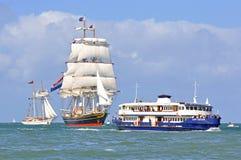 Clipper Ship STAD AMSTERDAM Stock Photo