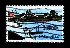 Clipperen för svalan M-130 Kina, flyg bana väg för serie, circa 1985 Arkivbilder