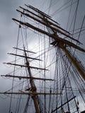 clipperen masts gammal tappning för shipstil tre Royaltyfri Fotografi