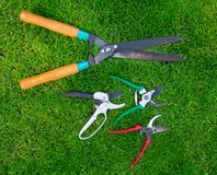 Clippers on the grass Royalty Free Stock Images