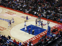 Clippers player shoot free throw from line. LOS ANGELES, NOVEMBER 25: Clippers vs. Kings:Clippers player shoot free throw from line at Staples Center taken royalty free stock photos