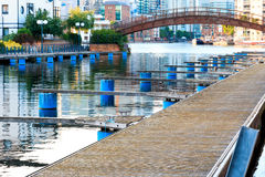 Clippers Quay, Isle of Dogs, London Stock Photos