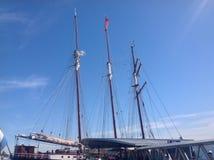 Clipperskepp i port Arkivfoto