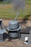 clipping för kanon 3d över white för ship för banaframförandeskugga Royaltyfri Fotografi