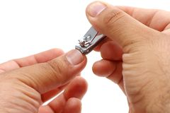 Clipping Fingernails Royalty Free Stock Photo