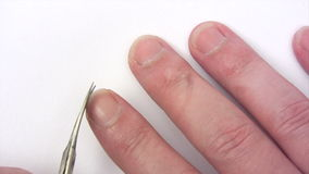 Clipping Fingernails stock video