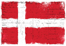 Grunge elements with flag of Denmark. stock photos