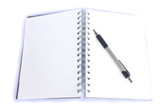 Clipping path this flie diary book on table office Royalty Free Stock Photography