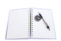 Clipping path this flie diary book on table office Stock Photo