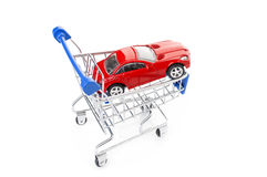 Clipping path included. Buying a new car. Stock Photography