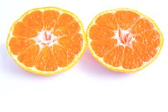 Clipping path of orange fruit Royalty Free Stock Photo