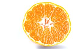 Clipping path of orange fruit Stock Photos