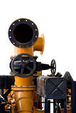 Clipping path vintage machine engine isolate background Royalty Free Stock Images