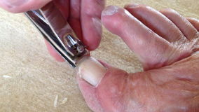 Clipping Toe Nails stock video