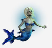clippingen inkluderar mermaidbanabarn Arkivfoto