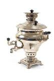 clippingen isolerade gammal white för tea för banarysssamovar Fotografering för Bildbyråer