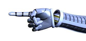 clippinghanden inkluderar banan som pekar roboten royaltyfri illustrationer