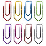 Clips. Colored for schools and offices Royalty Free Stock Images