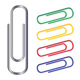 Clips. Vector illustration of colour clips Royalty Free Stock Images
