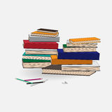 Clips and books background Royalty Free Stock Photos