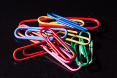 Clips colorés Photos stock