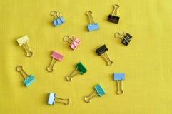 Clips colorés de cahier Photo libre de droits