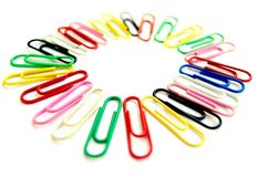 Clips in colours Royalty Free Stock Photos