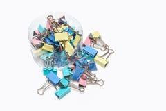Clips de papel Fotos de archivo libres de regalías