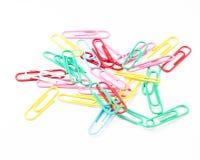 Clips de papel coloridos Fotos de archivo libres de regalías