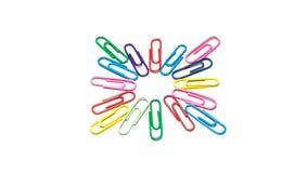 Clips de papel coloridos Foto de archivo libre de regalías